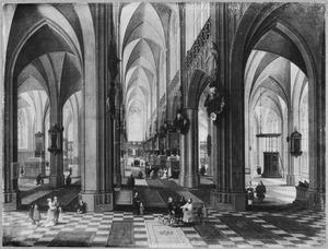 Interieur van de Onze-Lieve-Vrouwe-Kathedraal van Antwerpen