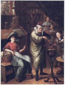 Interieur van een apotheek