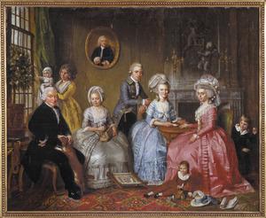 Groepsportret van de familie van Jan van Loon (1725-1792)