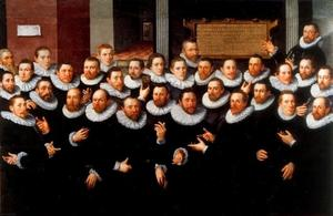 Het vierde Rot Haakbusschutters te Delft, 1592
