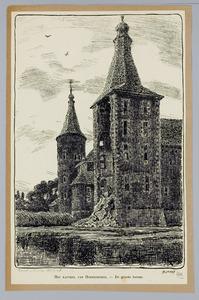 De grote torens aan de achterzijde van Kasteel Hoensbroek