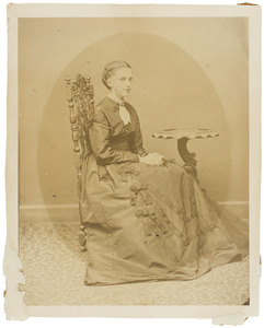 Portret van Ludolphine Cornelie van Valkenburg (1843-1869)