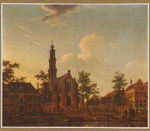 De Westerkerk te Amsterdam gezien vanaf de Keizersgracht