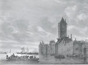 Rivierlandschap met de Utrechtse Plompetoren