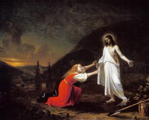 De ontmoeting van Christus met Maria MAgdalena in de tuin: Noli me tangere