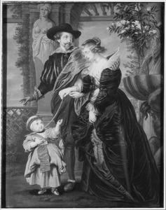 Peter Paul Rubens (1577-1640), met Hélène Fourment (1614-1673) en zijn zoon Peter Paul