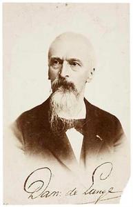 Portret van Daniel de Lange (1841-1918)