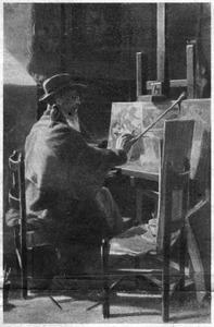 Portret van de kunstschilder Carlo Vallati