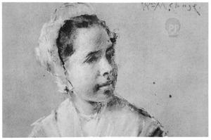 Portret van een Hollands weesmeisje