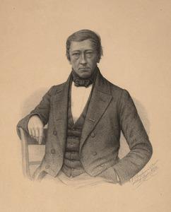 Portret van een man, genaamd Guillaume Groen van Prinsterer (1801-1876)
