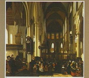 Gezicht in de Oude Kerk te Amsterdam