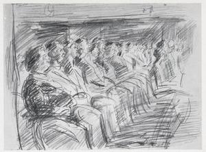Toeschouwers in Theater Scala, Den Haag