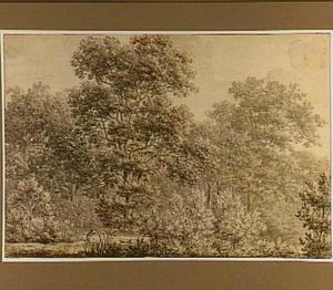 Het Haagse Bos met jager, in Den Haag