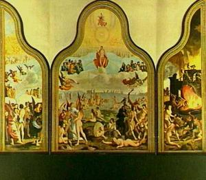 Drieluik met het Laatste Oordeel; de HH. Petrus en Paulus met in de achtergrond de schipbreuk van de H. Paulus voor Malta