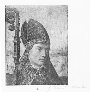 Hoofd van een bisschop (fragment)