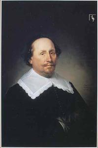 Portret van  Anthonis Repelaer, burgemeester van Dordrecht en bestuurder van de WIC en de VOC, op 56-jarige leeftijd