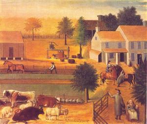 De residentie van David Twining in 1785