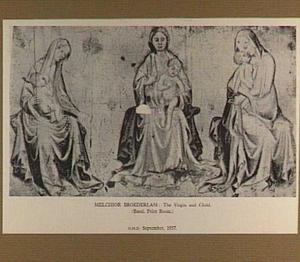 Drie studies van Maria met kind