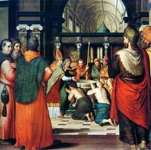 De doop van St. Eustachius