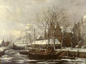 De voormalige Visbanken te Groningen bij winter