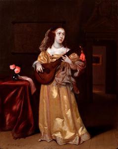 Cister spelende vrouw