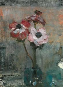 Anemones in a vase