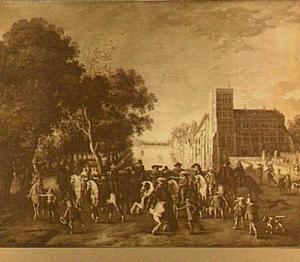 Cavalcade van de prinsen van Nassau op het Buitenhof