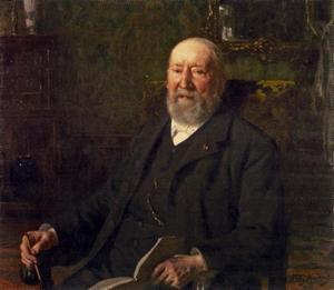 Portret van Hendrik Willem Mesdag (1831-1915) op 77-jarige leeftijd