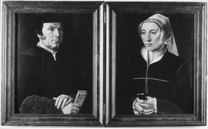 Portret van Lenaert Casembroot (1495-1558) en Godelieve Brest (?-1570)