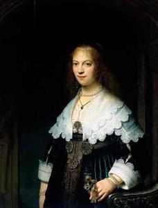 Portret van een vrouw, waarschijnlijk Maria Trip (1619-1683)