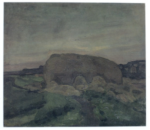 Haystack in the evening