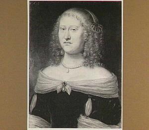 Portret van Marie-Anne, aartshertogin van Oostenrijk (1610-1665), echtgenote van Maximiliaan I, hertog  van Beijeren (1573-1651)