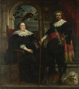Portret van Govaert van Surpele (1593-1674) en Catharina Coninckx (?-?)