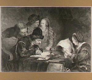 Het tekenen van het huwelijkscontract tussen Tobias en Sara (Tobias 7-9)
