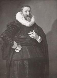 Portret van een man, ten onrechte genaamd Johannes Saeckma (1572-1636)