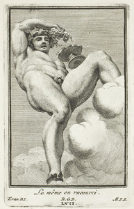 Bacchus, in verkort perspectief (pl. LVII)