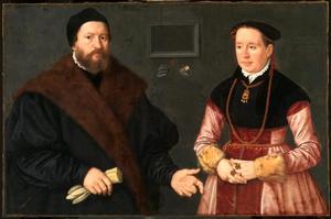 Portret van Balthazar Dörrer en zijn tweede vrouw Magdalena Bayerin