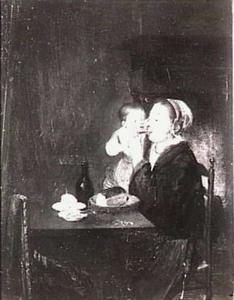 Een moeder met haar kind