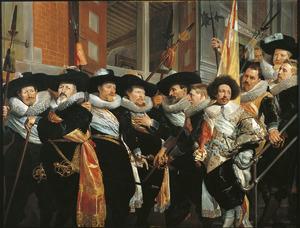 Officieren en onderofficieren van de Kloveniersdoelen te Haarlem