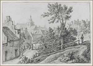 Op de wal van Utrecht met op de achtergrond de Buurkerk