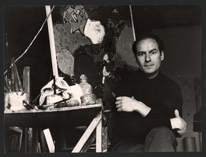 Corneille in zijn atelier aan de Rue Santeuil, Parijs