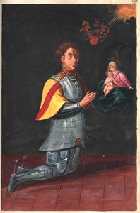 Portret van een lid van de familie Van der Burch