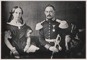 Portret van Coenraad Vemer (1812-1867) en Margaretha Maria Buschkens (1819/1820-1902)
