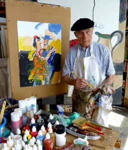 Portret van Anton Martineau aan het werk