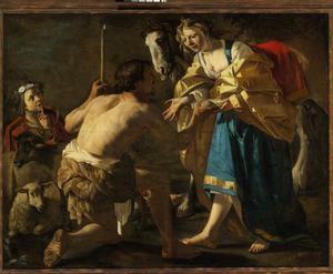 Granida ontvangt een beker water van Daifilo