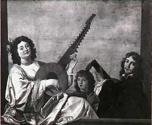 Musicerende man en vrouw