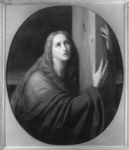 Maria Magdalena onder het kruis