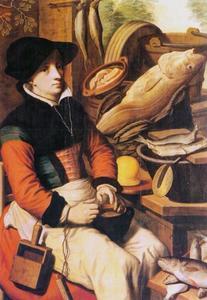De visverkoopster