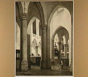 Interieur van de Grote Kerk te Dordrecht