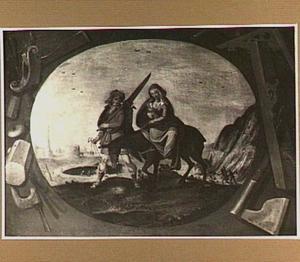 Jozef en Maria op de vlucht naar Egypte (Matt. 2:13-15)